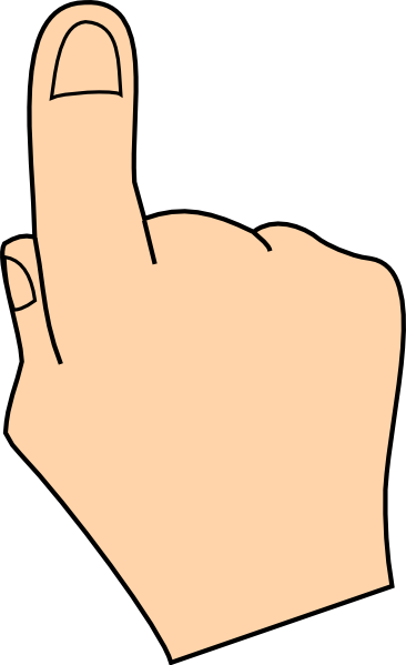 Pointer finger and pinky finger clipart images jpg freeuse library Finger Clip Art at Clker.com - vector clip art online, royalty ... jpg freeuse library