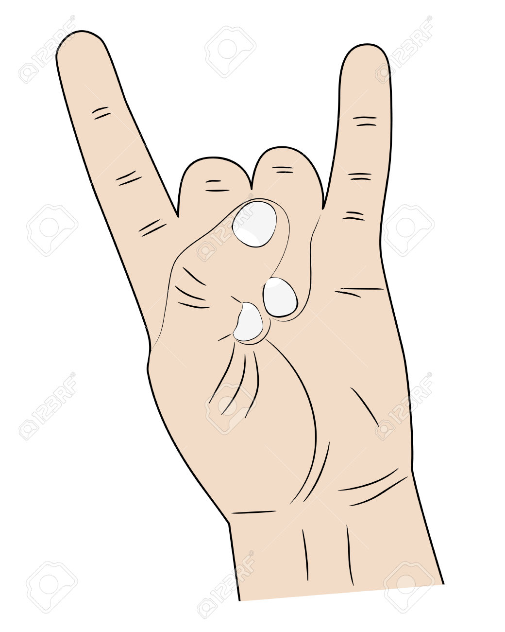 Pointer finger and pinky finger clipart images image royalty free stock Sign Hands Index Finger And Pinky Fingers Raised Up Royalty Free ... image royalty free stock