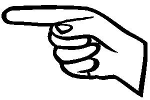 Pointer finger clipart svg black and white library Left Pointer Finger Clipart - Clipart Kid svg black and white library