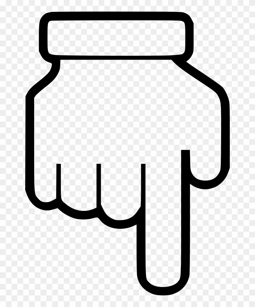 Pointing down clipart jpg library library Hand Point Down Comments - Hand Point Icon Transparent ... jpg library library