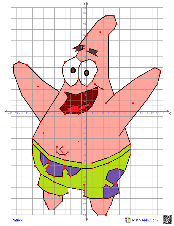 Points on a coordinate plane clipart graphic freeuse library Great worksheets with characters to use for graphing on a ... graphic freeuse library