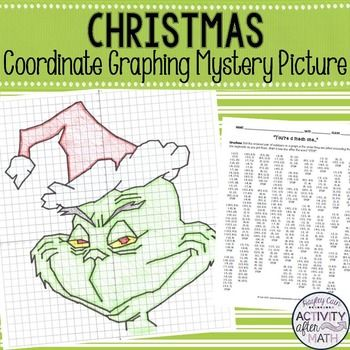 Points on a coordinate plane clipart png free Christmas Math Coordinate Plane Graphing Ordered Pairs Mystery ... png free