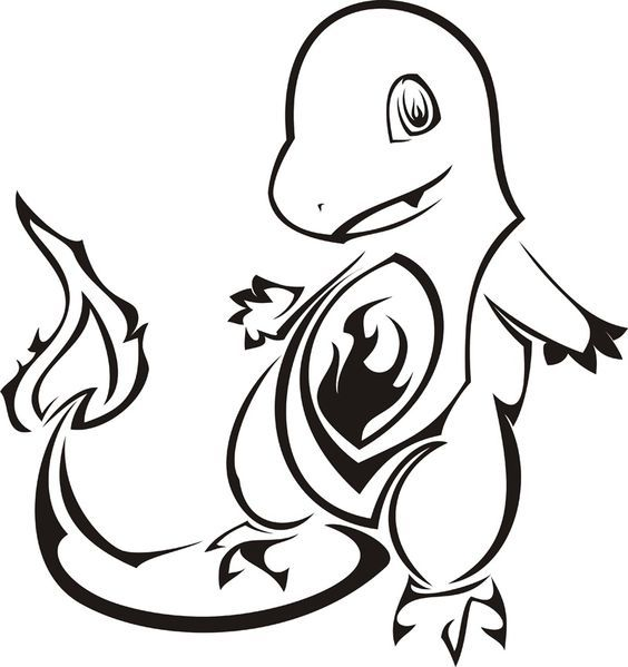 Pokemon characters clipart black and white clip library Pokemon Clipart Black And White | Free download best Pokemon ... clip library