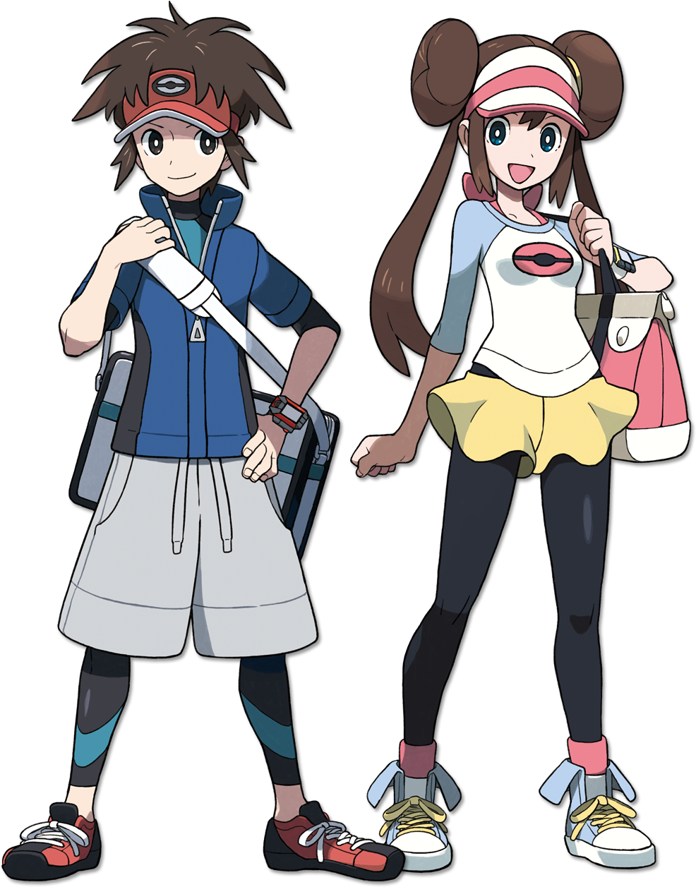 Pokemon characters clipart black and white freeuse B2w2 New Players - Pokemon Black And White Human Characters ... freeuse