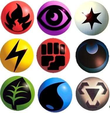 Pokemon type symbols clipart