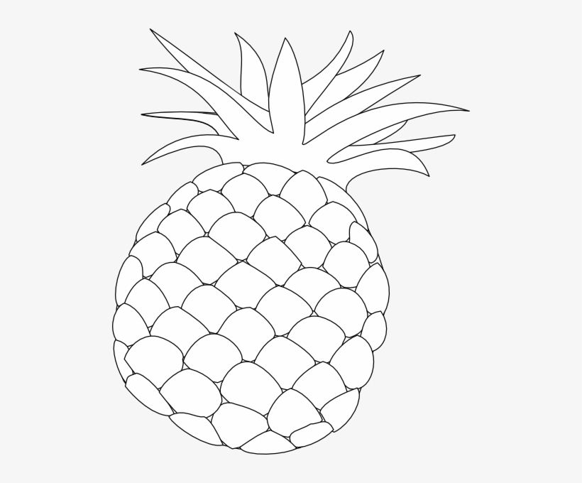 Pola clipart clip art black and white stock Pineapple Clipart Black And White Png - Gambar Pola Buah ... clip art black and white stock