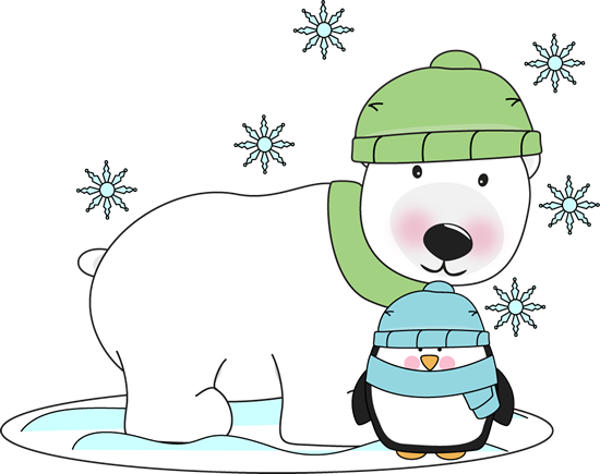 Polar bear and penguin clipart clipart download Polar bear and penguin winter clip art - ClipartAndScrap clipart download