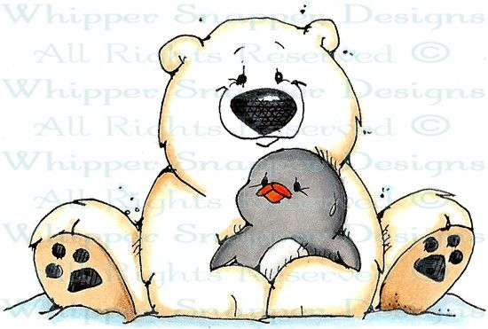 Polar bear and penguin clipart svg freeuse library A Hug for Ike - Penguins - Animals - Rubber Stamps - Shop ... svg freeuse library