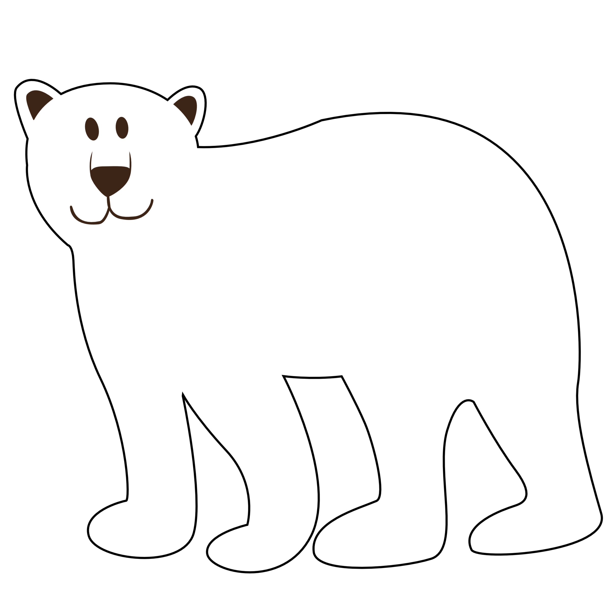 Polar bear clipart black and white png transparent Bear black and white polar bear black and white clipart ... png transparent