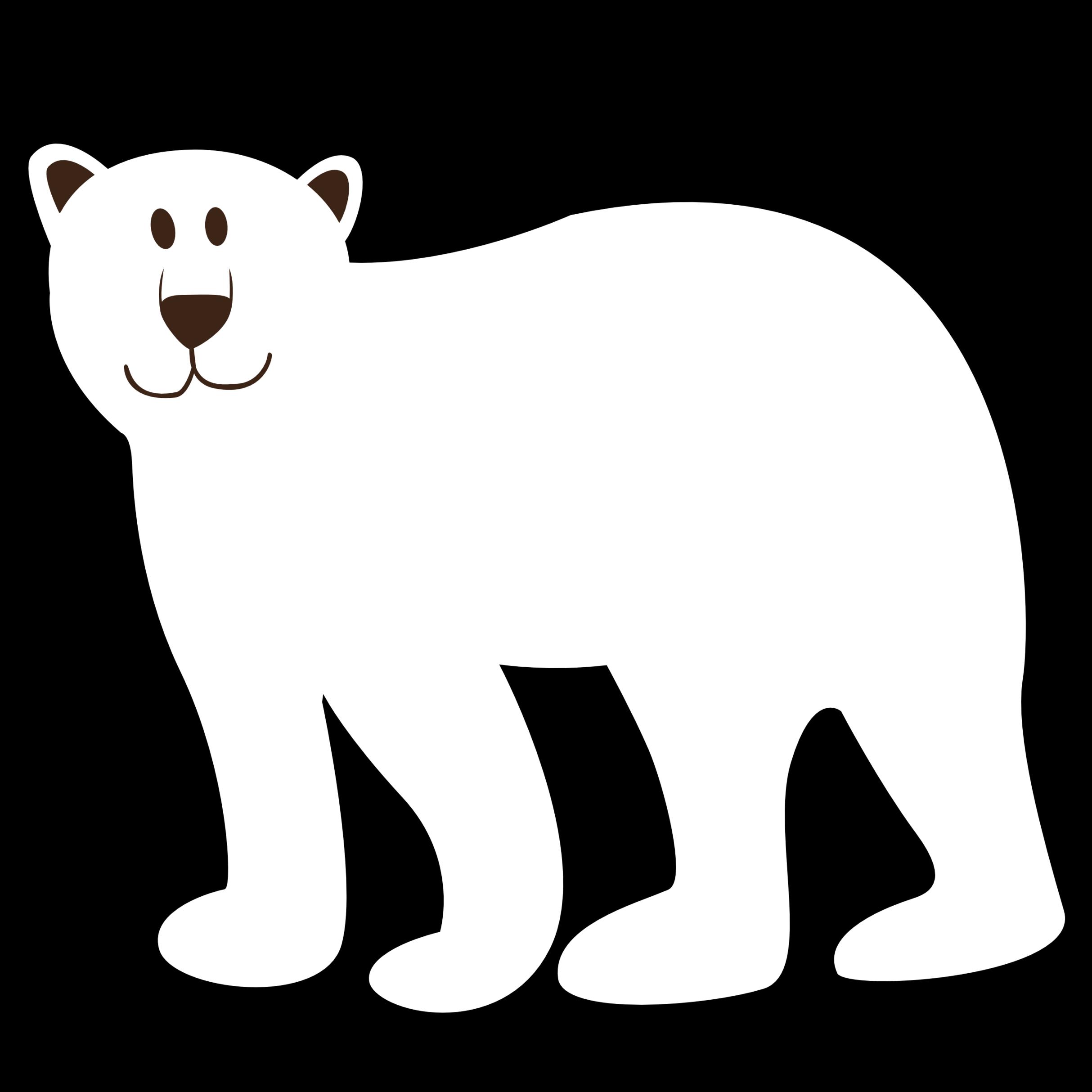 Polar bear black and white clipart vector black and white library Bear black and white polar bear black and white clipart ... vector black and white library