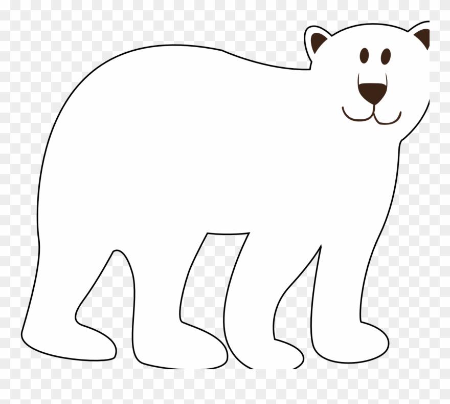 Polar bear black and white clipart clip art transparent stock Colorful Animal Polar Bear Black White Line Art Coloring ... clip art transparent stock