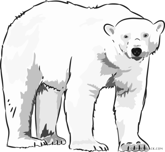 Polar bear black and white clipart clipart free library Polar bear clipart black and white 1 » Clipart Station clipart free library