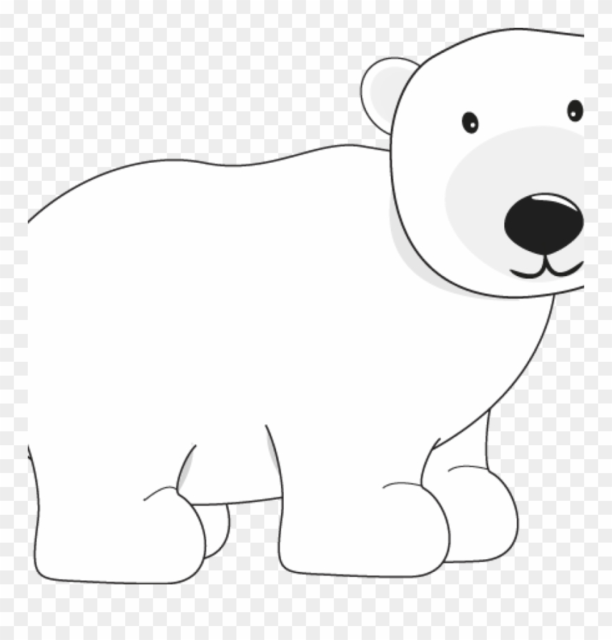 Polar bear clipart black and white png free download Polar Bear Clipart Polar Bear Bear Clip Art Pinterest - Bear ... png free download