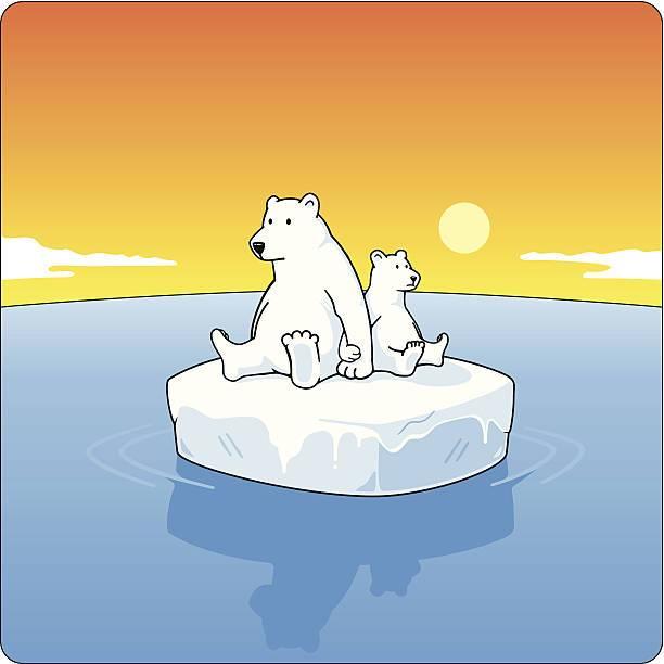 Polar bear on ice clipart vector freeuse download Polar bear on ice clipart 3 » Clipart Portal vector freeuse download