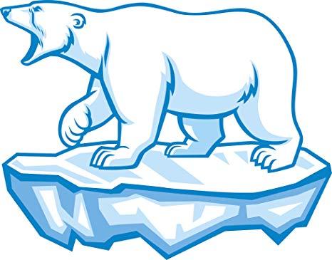 Polar bear on ice clipart banner transparent library Amazon.com: Roaring Polar Bear on Ice Cartoon Vinyl Decal ... banner transparent library