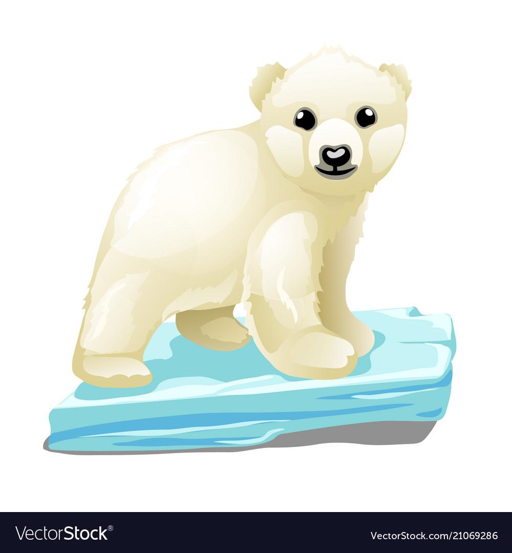 Polar bear on ice clipart svg free stock Cute polar bear floats on a drifting ice floe svg free stock