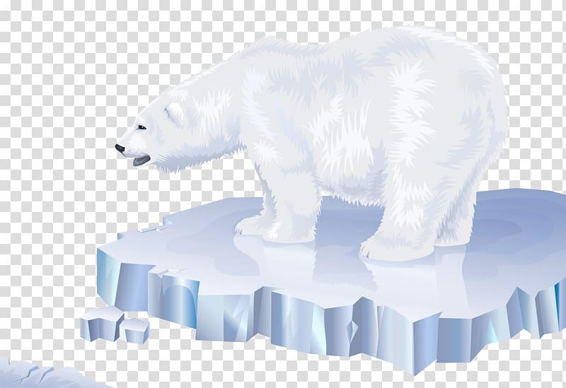 Polar bear on ice clipart clip art freeuse library Polar bear Arctic North Pole Los osos polares, polar bear ... clip art freeuse library