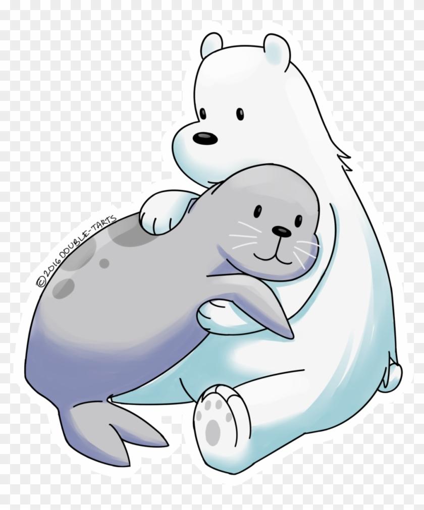 Polar bear on ice clipart clip art library stock Ice Clipart Polar Bear - Seal And Polar Bear Cartoon, HD Png ... clip art library stock