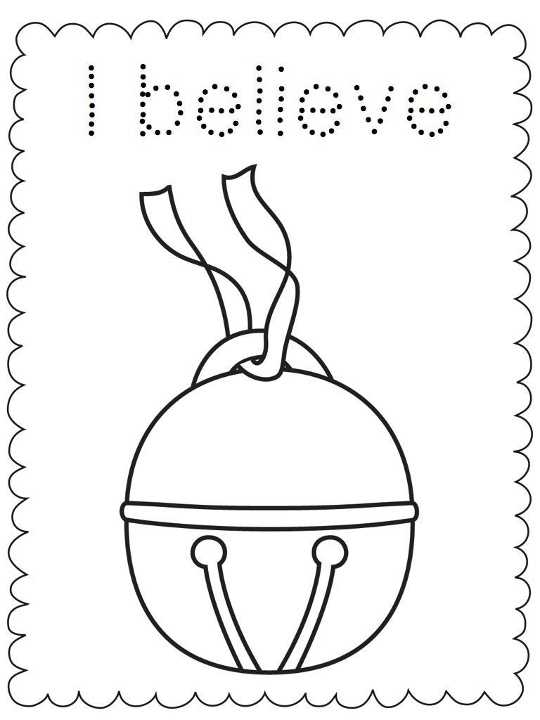 Polar express bell clipart black and white free Christmas Coloring Pages | polar express | Polar express ... free