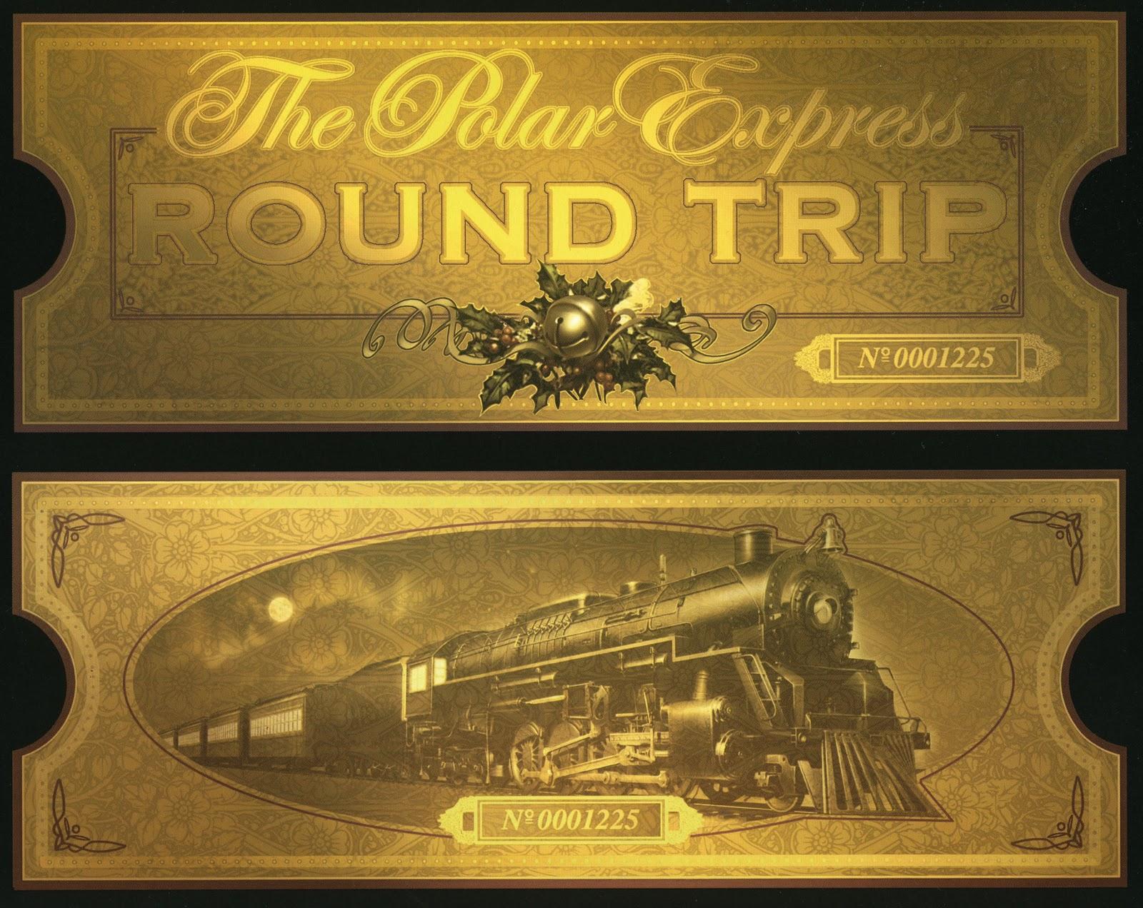 Polar express golden ticket clipart