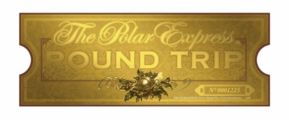 Polar express golden ticket clipart picture library The Polar Express Movie Night - Ticket The Polar Express ... picture library