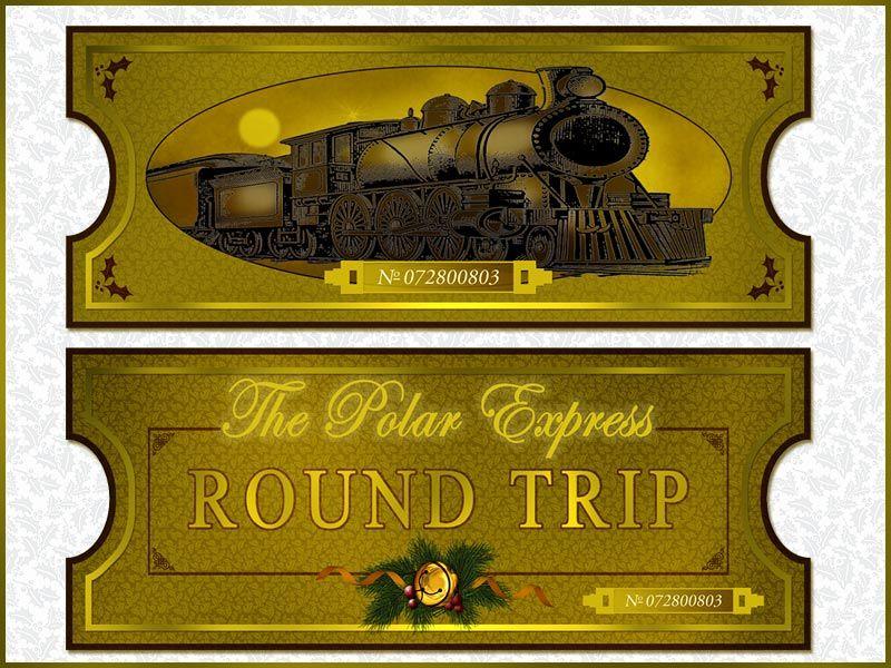 Polar express golden ticket clipart jpg freeuse download Polar Express Ticket Clipart #1 | Polar Express Printables ... jpg freeuse download