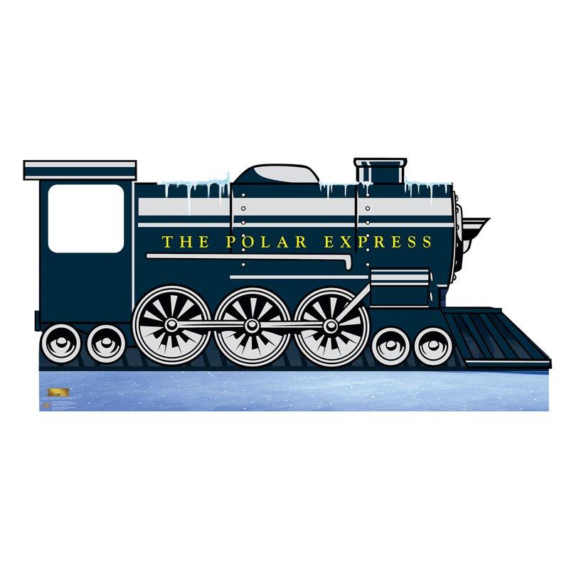 Polar express train clipart clip library stock Polar Express Train Cardboard Standup clip library stock