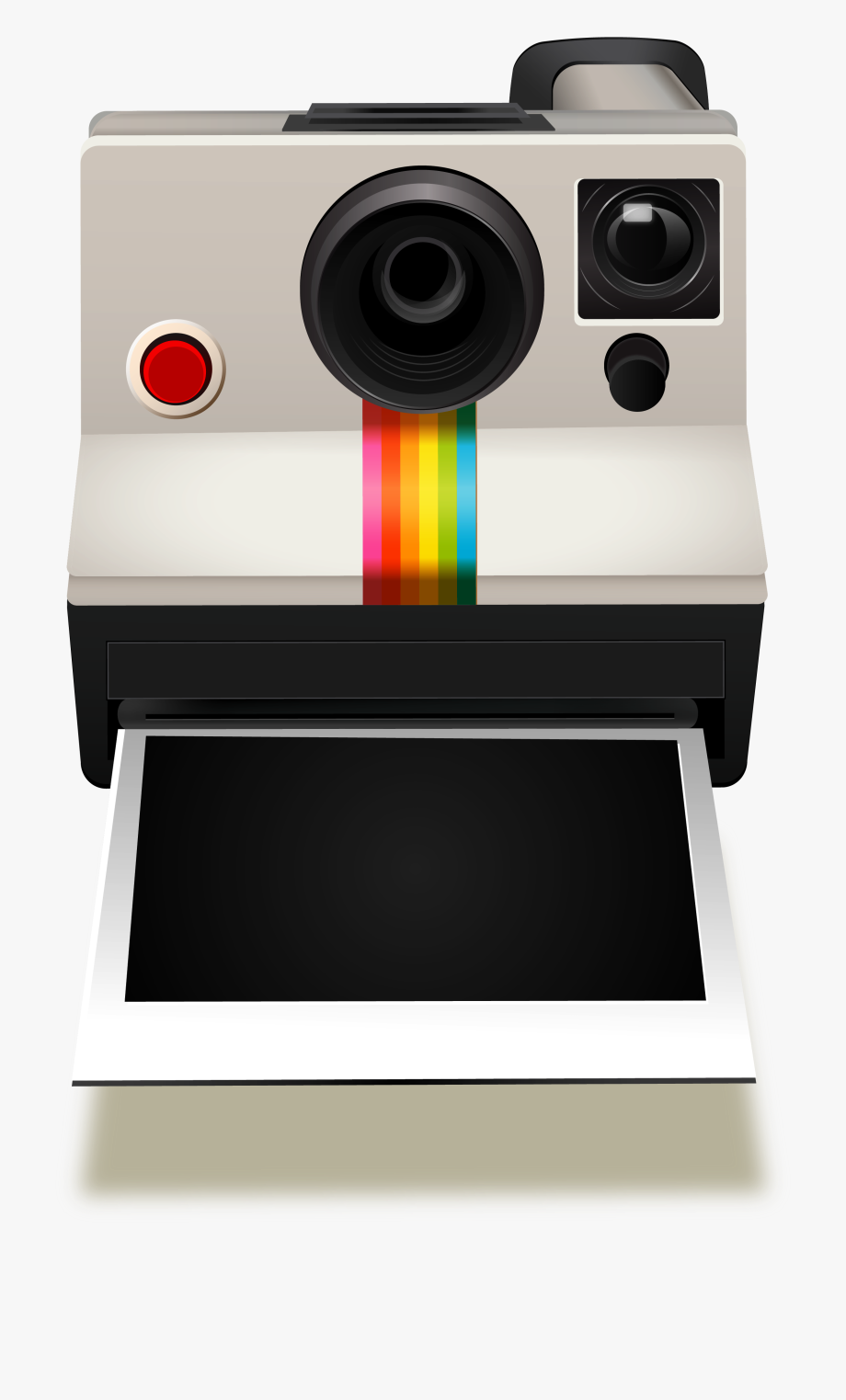 Polaroid clipart free download vector library download How To Draw Polaroid Camera Clipart Vector Photograph ... vector library download