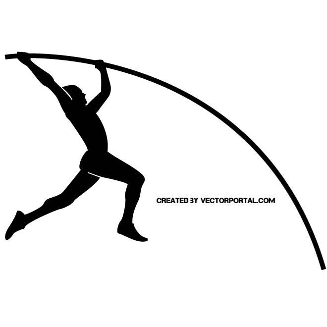 Pole vault clip art vector black and white library POLE VAULT ATHLETE - Download at Vectorportal vector black and white library
