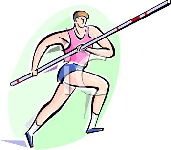 Pole vault clip art picture transparent stock Track and Field Athlete Preparing to Pole Vault - Royalty Free ... picture transparent stock