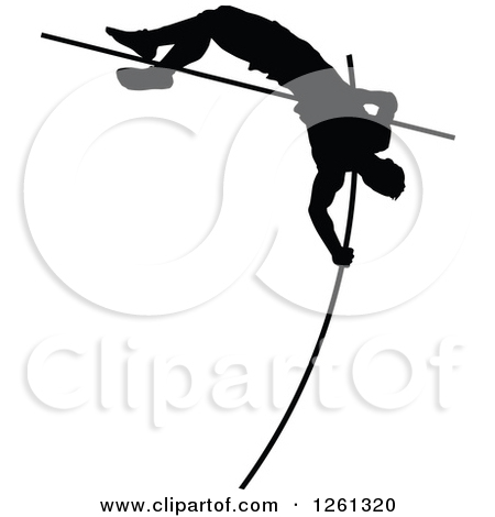 Pole vault clip art svg black and white download Royalty-Free (RF) Pole Vaulter Clipart, Illustrations, Vector ... svg black and white download