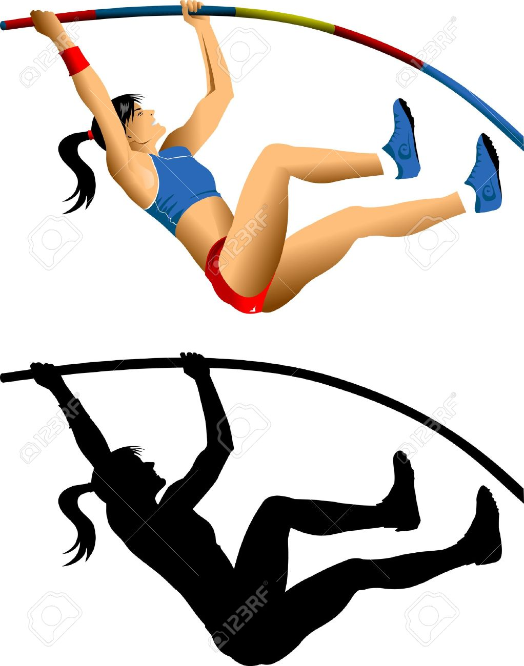 Pole vault clipart free svg download Pole vault girl clipart - ClipartFest svg download