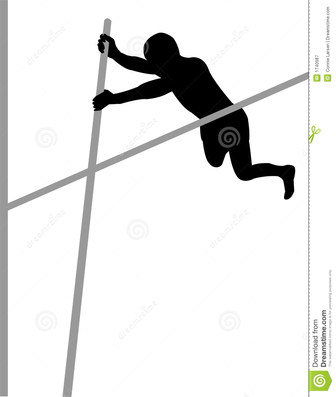 Pole vault clipart free png stock Pole Vaulter Royalty Free Stock Photography - Image: 1740987 png stock