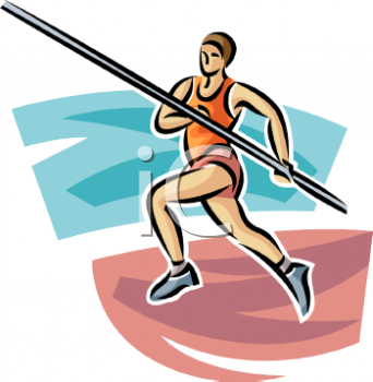 Pole vault clipart free clipart freeuse stock Track and Field Pole Vaulter Running with the Pole - Royalty Free ... clipart freeuse stock