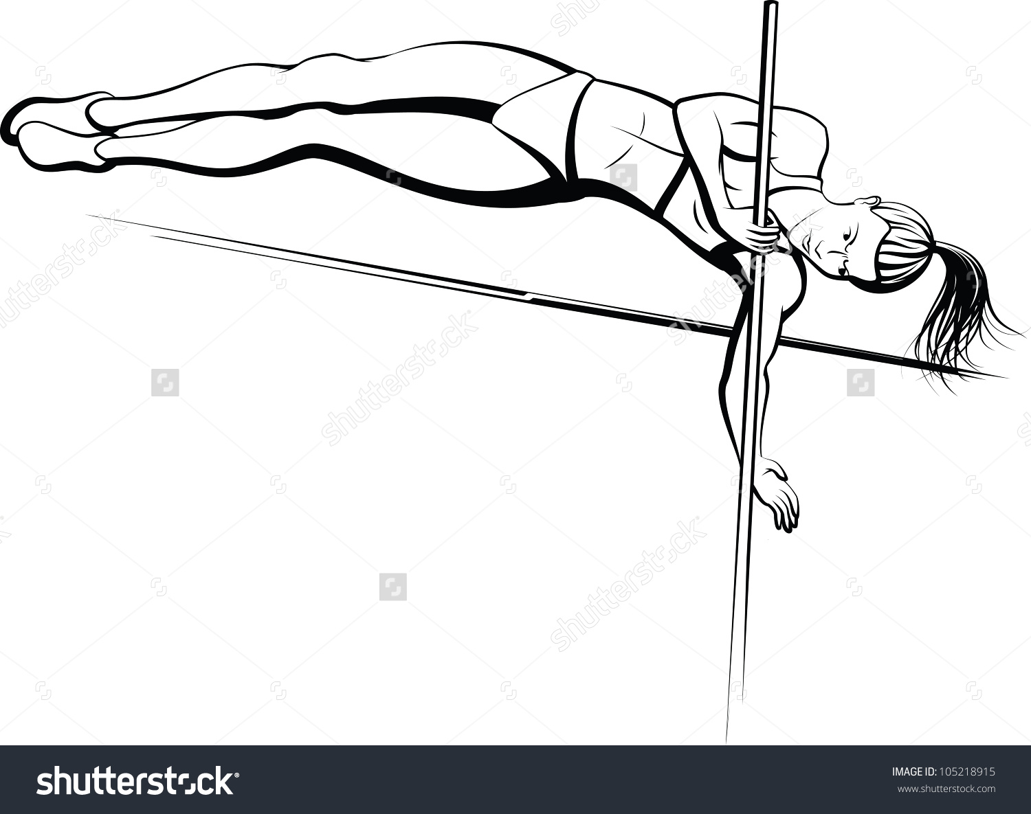 Pole vault clipart free svg freeuse stock Pole vault girl clipart - ClipartFest svg freeuse stock