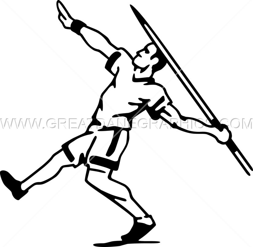 Clipart baseball throw royalty free library Javelin Thrower | Production Ready Artwork for T-Shirt Printing royalty free library