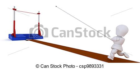Pole vault clipart images picture library stock Clipart of man competing in the pole vault - 3D render of a man ... picture library stock