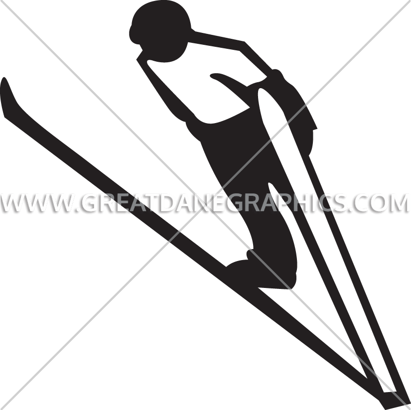 Cross country skier clipart black and white download Ski Jump | Production Ready Artwork for T-Shirt Printing black and white download
