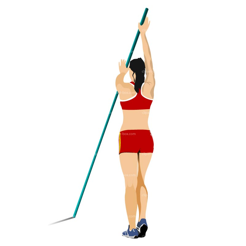 Pole vault clipart images image free stock CLIPART WOMAN POLE VAULTING   Royalty free vector design image free stock