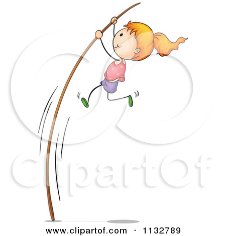 Pole vault girl clipart svg free Cartoon Of A Sporty Pole Vault Girl - Royalty Free Vector Clipart ... svg free