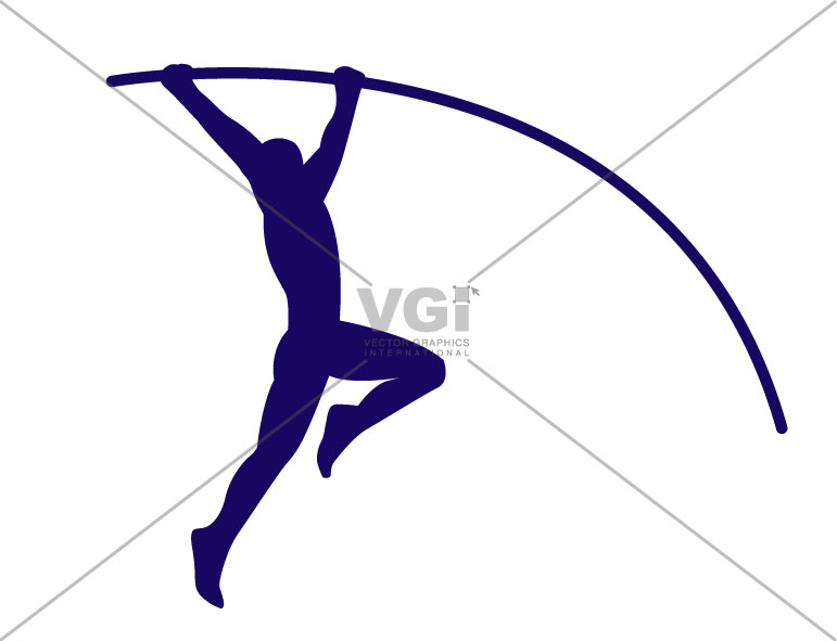 Pole vault girl clipart vector library library Pole vault clipart free - ClipartFest vector library library