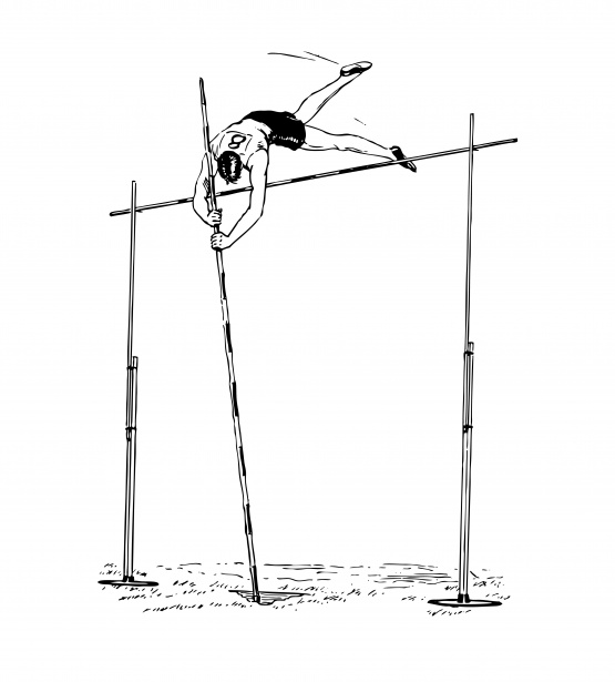 Pole vaulting clipart picture free Pole Vaulter Clipart Illustration Free Stock Photo - Public ... picture free