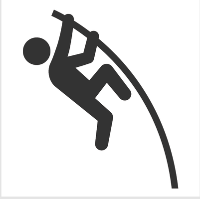 Pole vaulting clipart image black and white stock Athletics and Gymnastics Icon Set - Pole Vault | Clipart ... image black and white stock