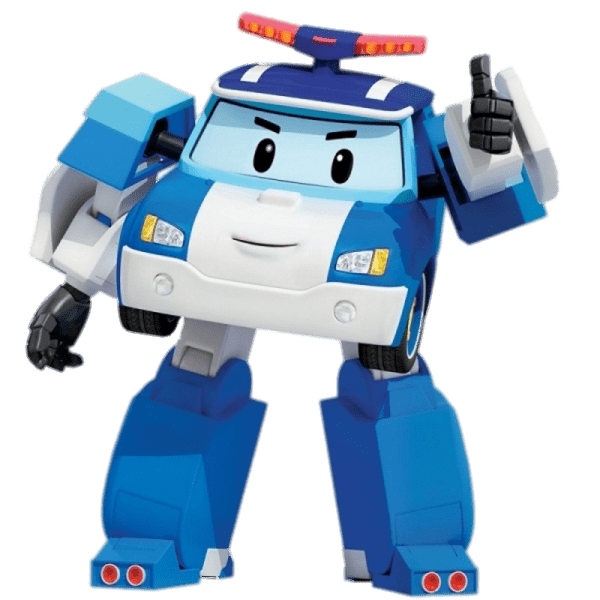 Poli clipart svg transparent stock Robocar Poli Thumb Up transparent PNG - StickPNG svg transparent stock
