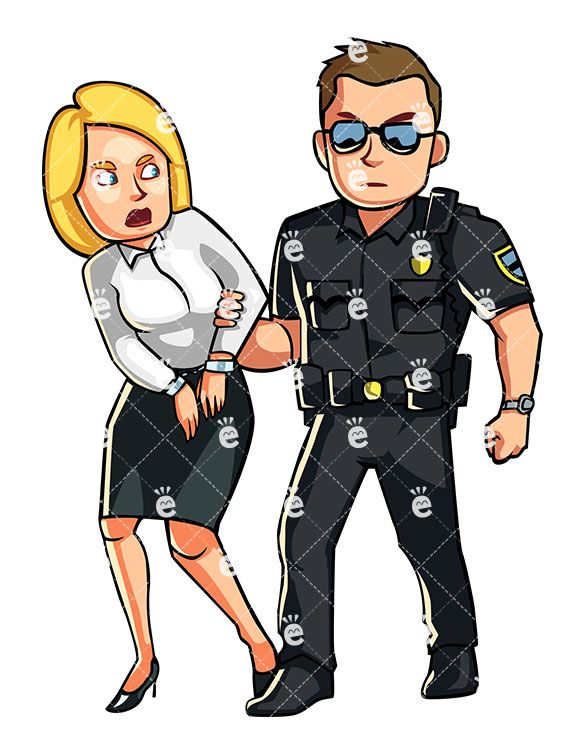 Women arrested clipart jpg library Police Officer Arresting A Formally Dressed Woman | a r t in ... jpg library
