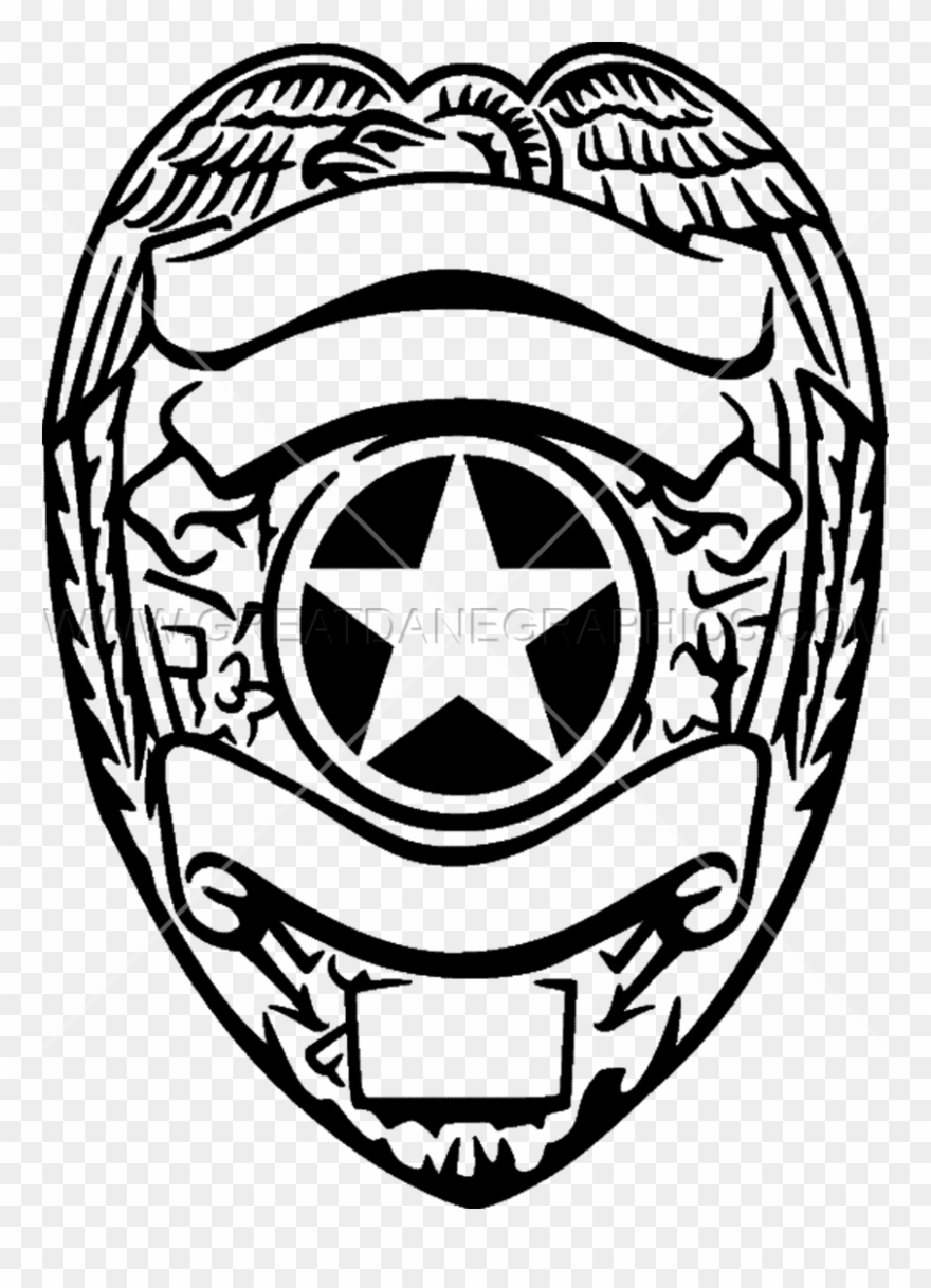 Police badge clipart black and white clipart transparent download Silver Police Badge Badge, Tattoo Ideas, Bird, All - Black ... clipart transparent download