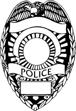 Police badge clipart vector
