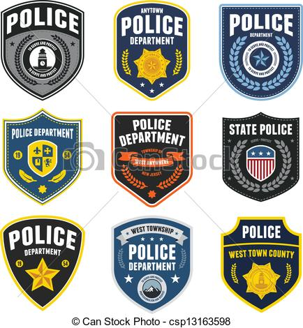 Police badge clipart vector royalty free library EPS Vectors of Police patches - Set of police law enforcement ... royalty free library