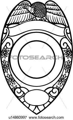 Police badge clipart vector clip royalty free stock Clip Art of , badge, cop, department, deputy, emergency, emergency ... clip royalty free stock