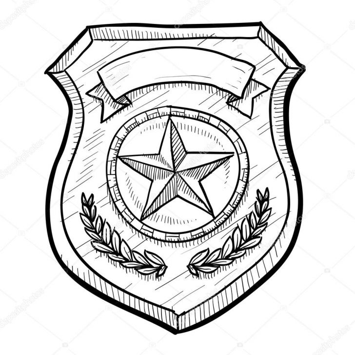 Police badge clipart vector clipart free library Vector Police Badge – Graphic Design Inspiration clipart free library
